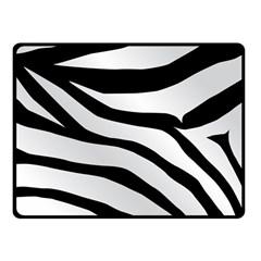 White Tiger Skin Fleece Blanket (Small)