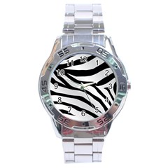 White Tiger Skin Stainless Steel Analogue Watch