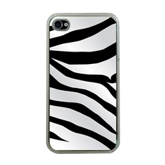 White Tiger Skin Apple Iphone 4 Case (clear)