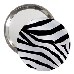 White Tiger Skin 3  Handbag Mirrors