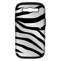 White Tiger Skin Samsung Galaxy S Iii Hardshell Case (pc+silicone)