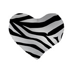 White Tiger Skin Standard 16  Premium Heart Shape Cushions Front