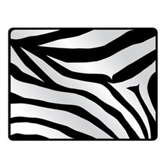 White Tiger Skin Double Sided Fleece Blanket (small)
