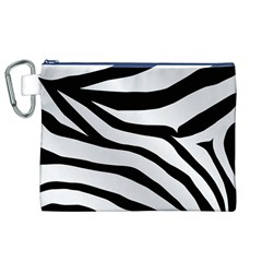 White Tiger Skin Canvas Cosmetic Bag (XL)
