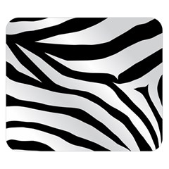 White Tiger Skin Double Sided Flano Blanket (Small)