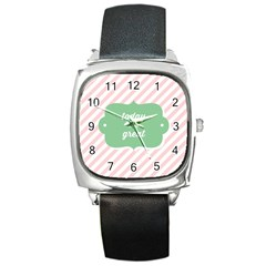 Today Will Be Great Square Metal Watch