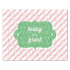 Today Will Be Great Rectangular Jigsaw Puzzl