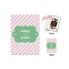Today Will Be Great Playing Cards (Mini)