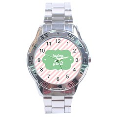 Today Will Be Great Stainless Steel Analogue Watch