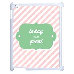 Today Will Be Great Apple iPad 2 Case (White)