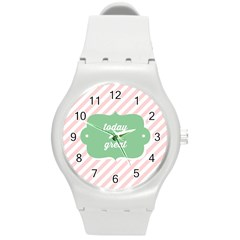 Today Will Be Great Round Plastic Sport Watch (m)