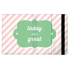 Today Will Be Great Apple iPad 3/4 Flip Case