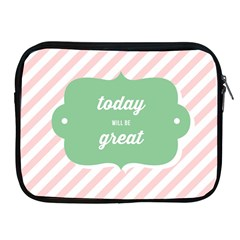 Today Will Be Great Apple iPad 2/3/4 Zipper Cases