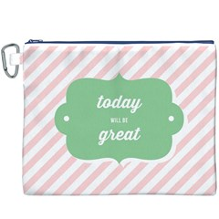 Today Will Be Great Canvas Cosmetic Bag (xxxl)