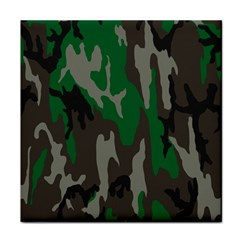Army Green Camouflage Tile Coasters