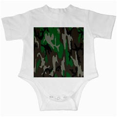 Army Green Camouflage Infant Creepers