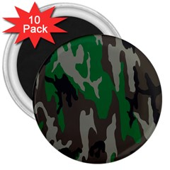 Army Green Camouflage 3  Magnets (10 pack)