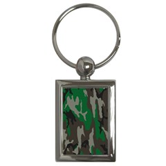 Army Green Camouflage Key Chains (rectangle)