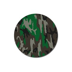Army Green Camouflage Magnet 3  (Round)