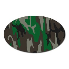 Army Green Camouflage Oval Magnet