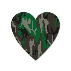 Army Green Camouflage Heart Magnet