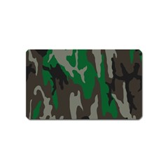 Army Green Camouflage Magnet (Name Card)