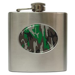 Army Green Camouflage Hip Flask (6 Oz)