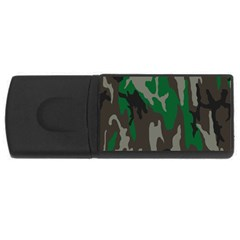 Army Green Camouflage USB Flash Drive Rectangular (1 GB)