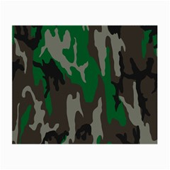 Army Green Camouflage Small Glasses Cloth