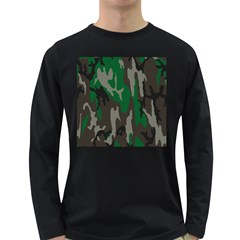 Army Green Camouflage Long Sleeve Dark T Shirts