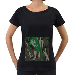 Army Green Camouflage Women s Loose Fit T Shirt (black)