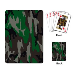 Army Green Camouflage Playing Card