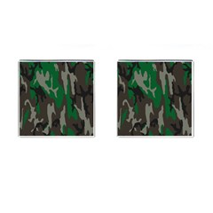Army Green Camouflage Cufflinks (Square)