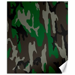 Army Green Camouflage Canvas 8  x 10