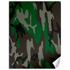Army Green Camouflage Canvas 12  X 16