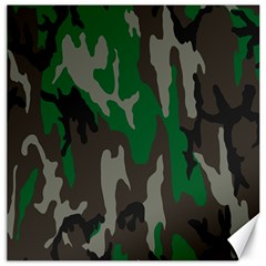 Army Green Camouflage Canvas 20  X 20