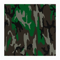 Army Green Camouflage Medium Glasses Cloth (2 Side)