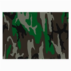 Army Green Camouflage Large Glasses Cloth (2 Side)