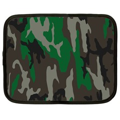 Army Green Camouflage Netbook Case (Large)