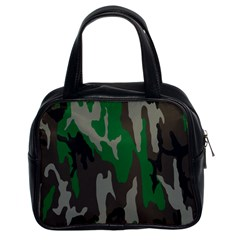 Army Green Camouflage Classic Handbags (2 Sides)