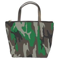 Army Green Camouflage Bucket Bags