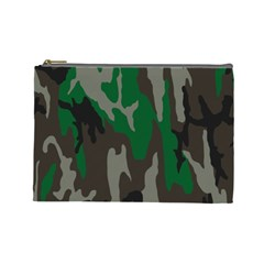 Army Green Camouflage Cosmetic Bag (Large)