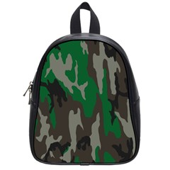 Army Green Camouflage School Bags (small)