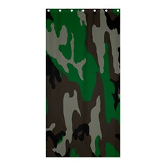 Army Green Camouflage Shower Curtain 36  X 72  (stall)