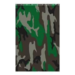 Army Green Camouflage Shower Curtain 48  x 72  (Small)
