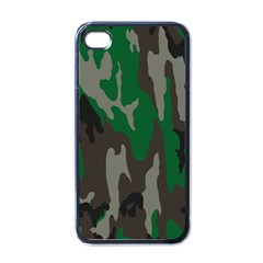 Army Green Camouflage Apple iPhone 4 Case (Black)