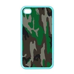 Army Green Camouflage Apple Iphone 4 Case (color)