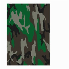 Army Green Camouflage Small Garden Flag (two Sides)