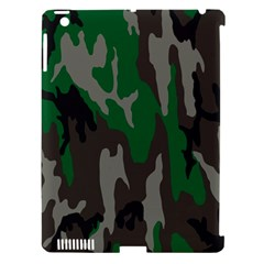 Army Green Camouflage Apple iPad 3/4 Hardshell Case (Compatible with Smart Cover)