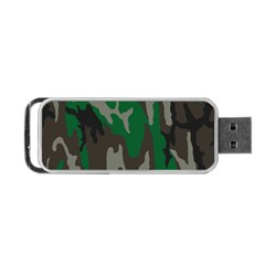 Army Green Camouflage Portable USB Flash (Two Sides)